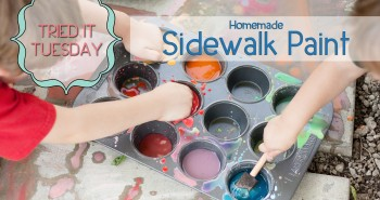 Life in Lape Haven: Tried It Tuesday - Homemade Sidewalk Paint