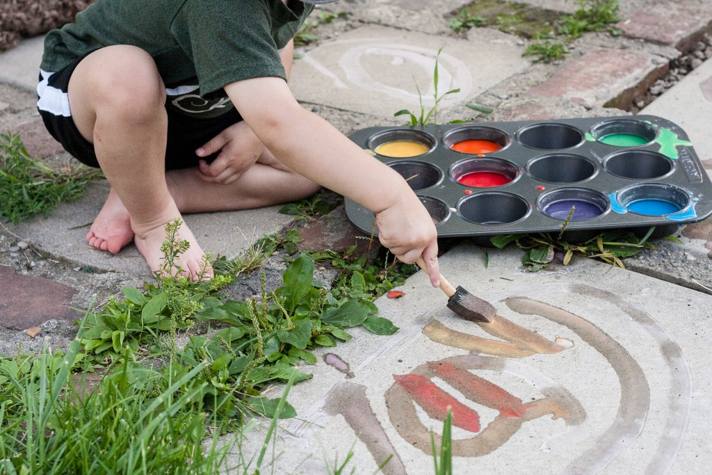 Tried It Tuesday: Homemade Sidewalk Paint