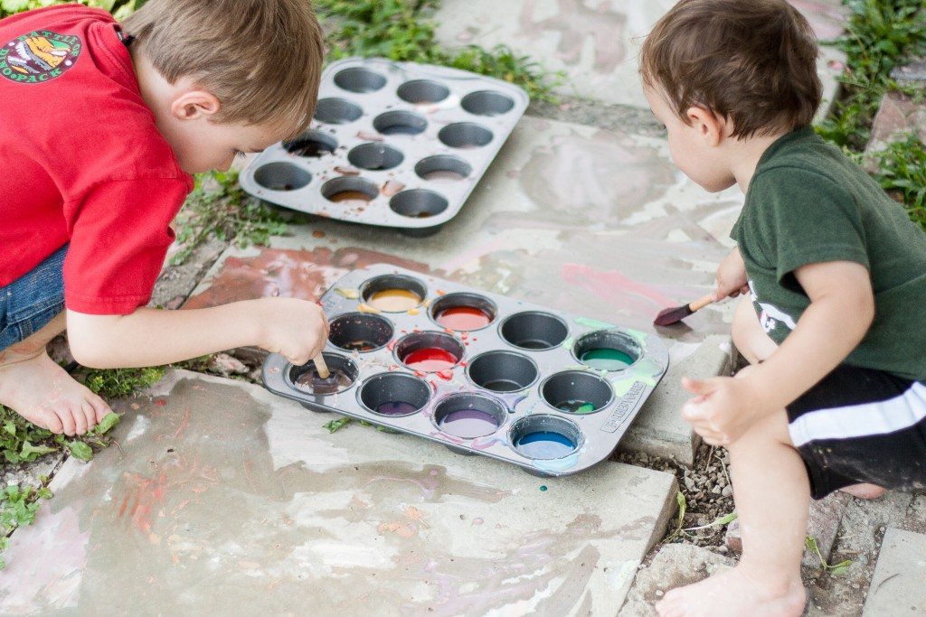 Tried It Tuesday: Homemade Sidewalk Paint - Painting