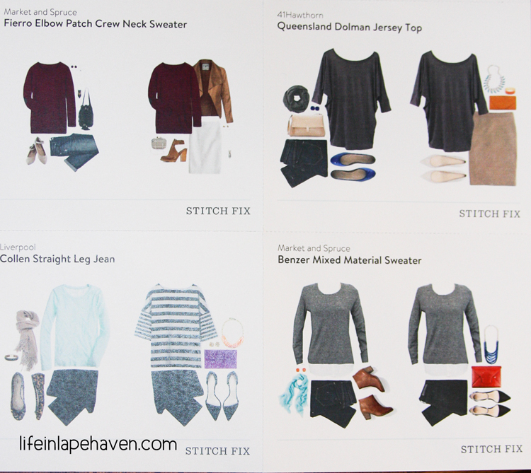 Life in Lape Haven: Tried It Tuesday - Stitch Fix, style card