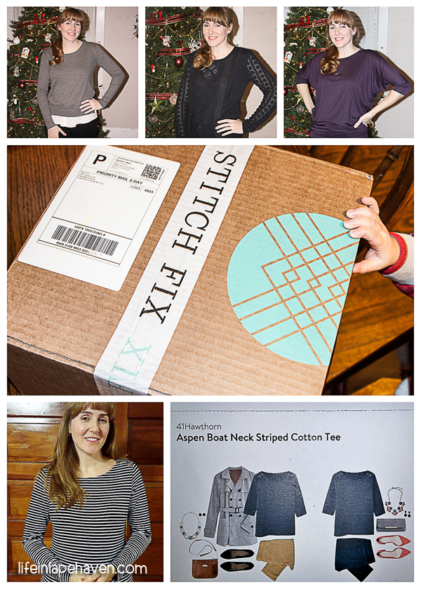 Life in Lape Haven: Tried It Tuesday - Stitch Fix - Collage of Stitch fix pieces