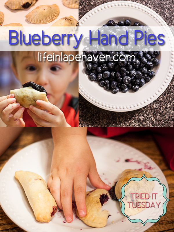 Life in Lape Haven: Tried It Tuesday - Blueberry Hand Pies collage