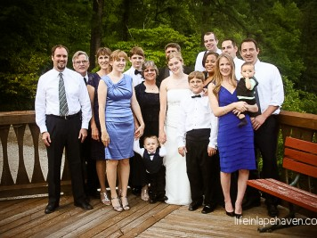 Life in Lape Haven: Better than a Fairy Tale - Family at Jericho's wedding, July 2012