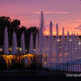 Life in Lape Haven: Tried It Tuesday: Kings Island Blue Ice Cream Copycat Recipe - Fountains at Sunset