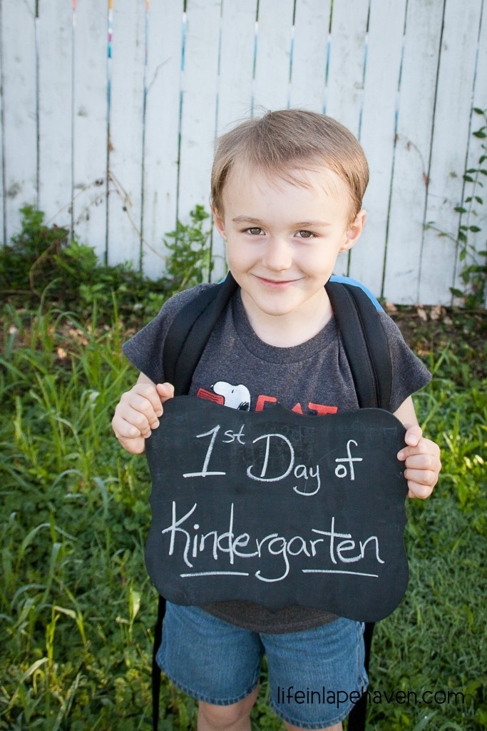 Life in Lape Haven: Embracing the Moments of Mom Sadness - First day of Kindergarten