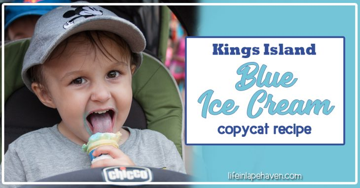 LifeinLapeHaven.com: Tried It Tuesday - Kings Island Blue Ice Cream copycat recipe. This creamy, slightly berry flavored blue ice cream is a close substitute for Kings Island's famous blue, blueberry, Smurf ice cream. Yum.
