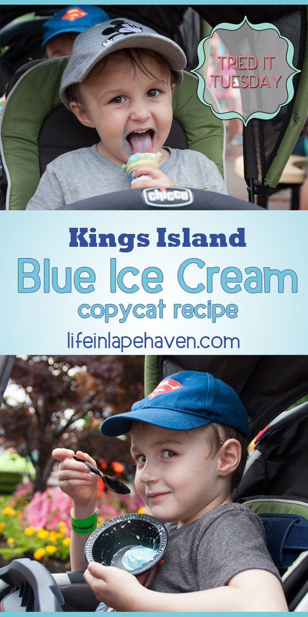 Life in Lape Haven: Tried It Tuesday - Kings Island Blue Ice Cream Copycat Recipe