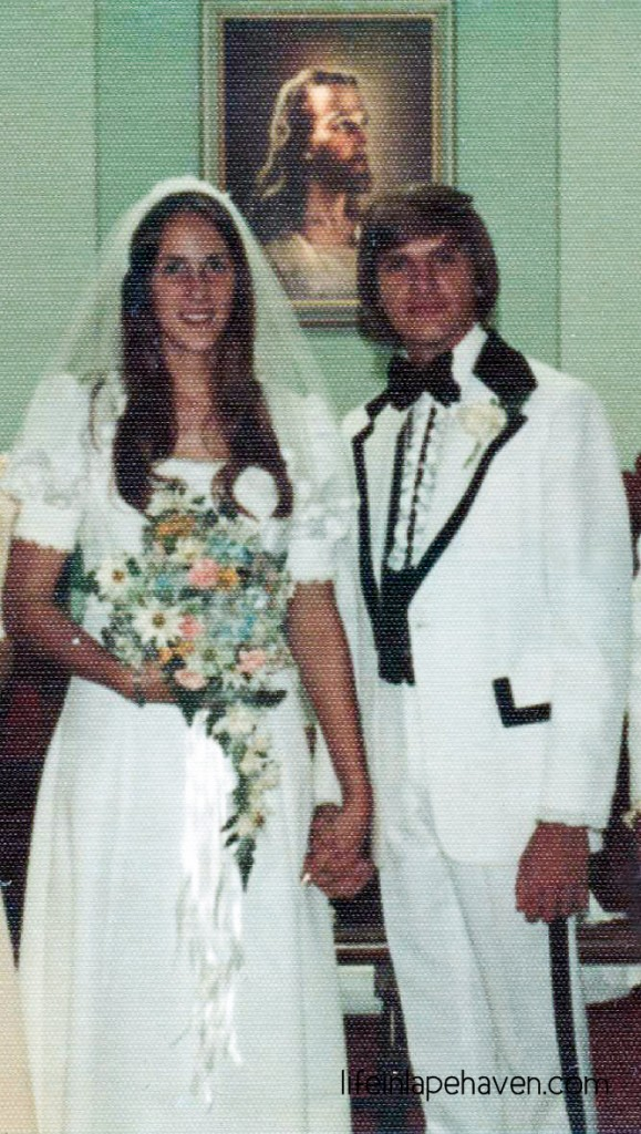 Life In Lape Haven: Better than a Fairy Tale - A love story in reality that has brought my parents to their 40th anniversary. Wedding picture