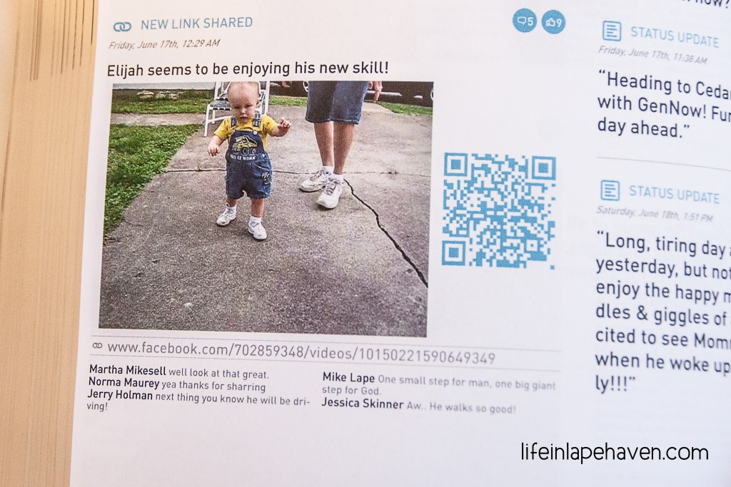 Life in Lape Haven: Tried It Tuesday - My Social Book. My experience with the online printing company that makes your Facebook posts into a keepsake book.