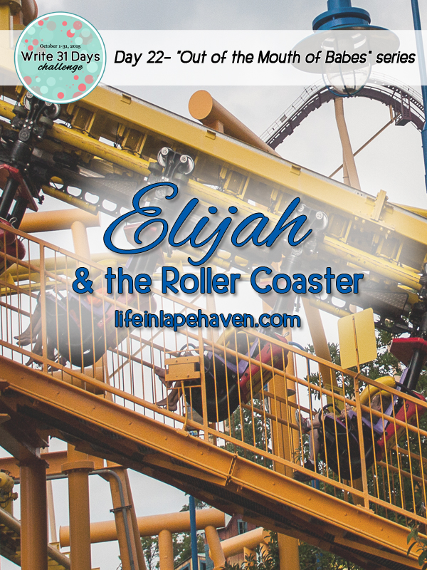 Life in Lape Haven: Write 31 Days - Elijah and the Roller Coaster