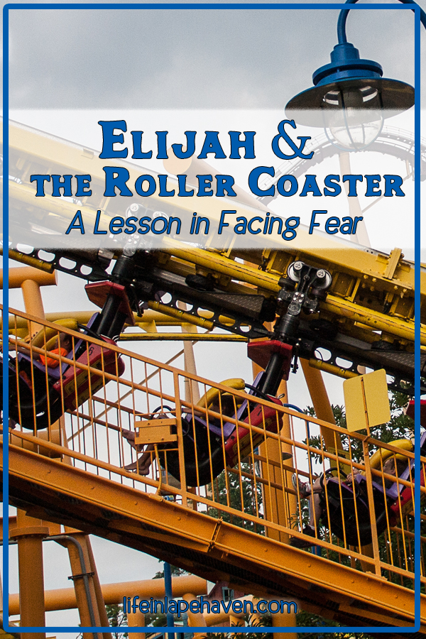 Elijah & the Roller Coaster - A Lesson in Facing Fear. Life in Lape Haven. Our son was both excited and scared to ride his first ever roller coaster, but through it we both learned a lesson in facing fears.