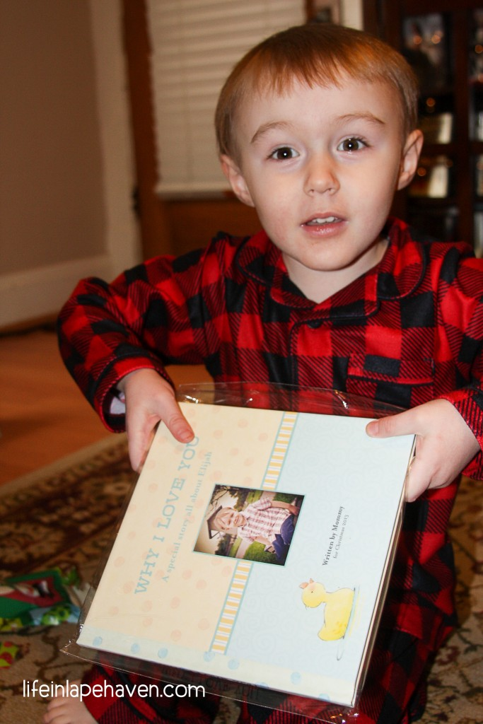 Life in Lape Haven: Tried It Tuesday - My Best Christmas Gift Idea Ever...so far. Creating an original personalized storybook photo book for my son.