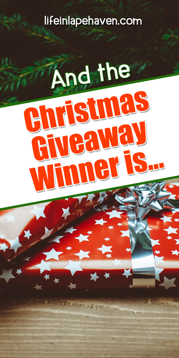 Life in Lape Haven: And the Christmas Giveaway Winner Is... Announcing the winner of my special Christmas Giveaway!