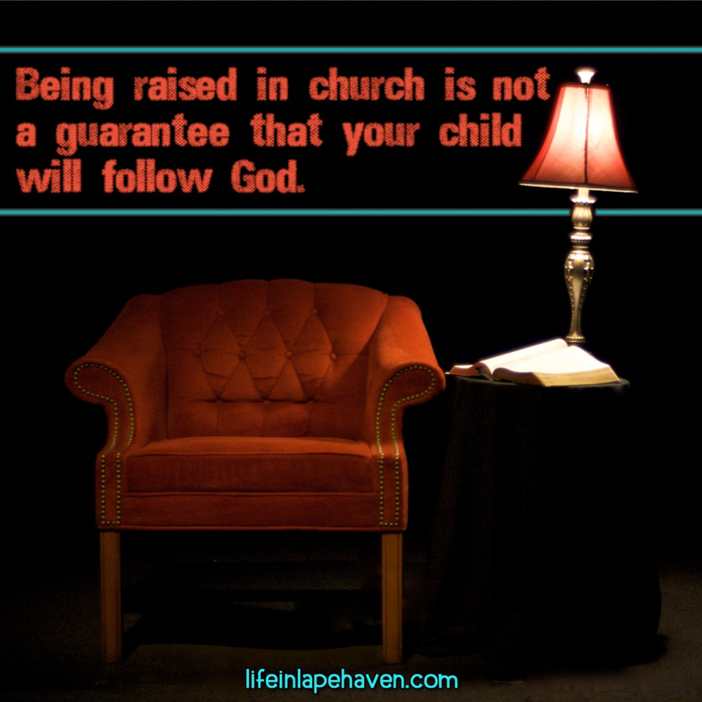 Confessions of a Preacher's Kid: Being Raised in Church ISN'T Enough. While having your children in church is a great start and a good foundation for their Christian walk, just being in church isn't a guarantee that your child will follow God all their life. But there is more that you can do to help encourage their lifelong relationship with Christ.