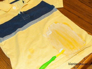 Tried It Tuesday: How to Get Grease Stains (Even Set-In Ones) Out of Clothing - After finding grease and oil spots on my son's shirts, ones that had already been washed and dried, I decided to find a simple way to get the grease and oil stains out of his clothing.