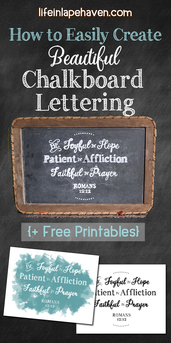 This is a picture of Printable Chalkboard Letters pertaining to bible