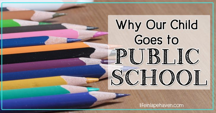 Why Our Child Goes to Public School, Life in Lape Haven. When we prayed for direction about our child's education, God's answer was public school and trusting Him.