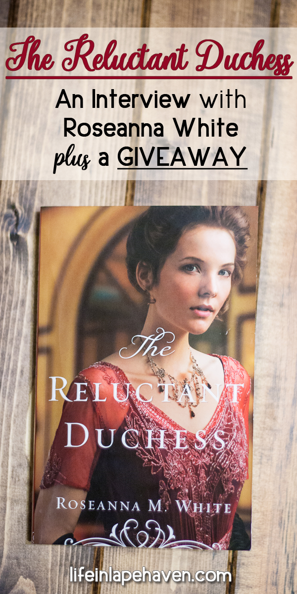 "Life in Lape Haven: The Reluctant Duchess - Interview with Roseanna White & GIveaway. In celebration of the release, The Reluctant Duchess, the second book in her Edwardian-era ""Ladies of the Manor"" series, Roseanna White is sharing about the intrigue, romance, and inspiration in her latest story. Also, you can enter for a chance to win a copy for yourself."