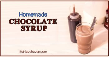 Life in Lape Haven: Tried It Tuesday: Homemade Chocolate Syrup. An easy, inexpensive, healthier, and delicious homemade chocolate syrup that will guarantee you'll never need store-bought again. Great for chocolate milk & as an ice cream topping! Yummy.