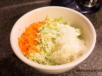 Life in Lape Haven: Tried It Tuesday: Sweet Vinegar Slaw. A yummy recipe for a vinegar-based cole slaw that is always a summer hit. Great side dish for barbecue and easy to make.