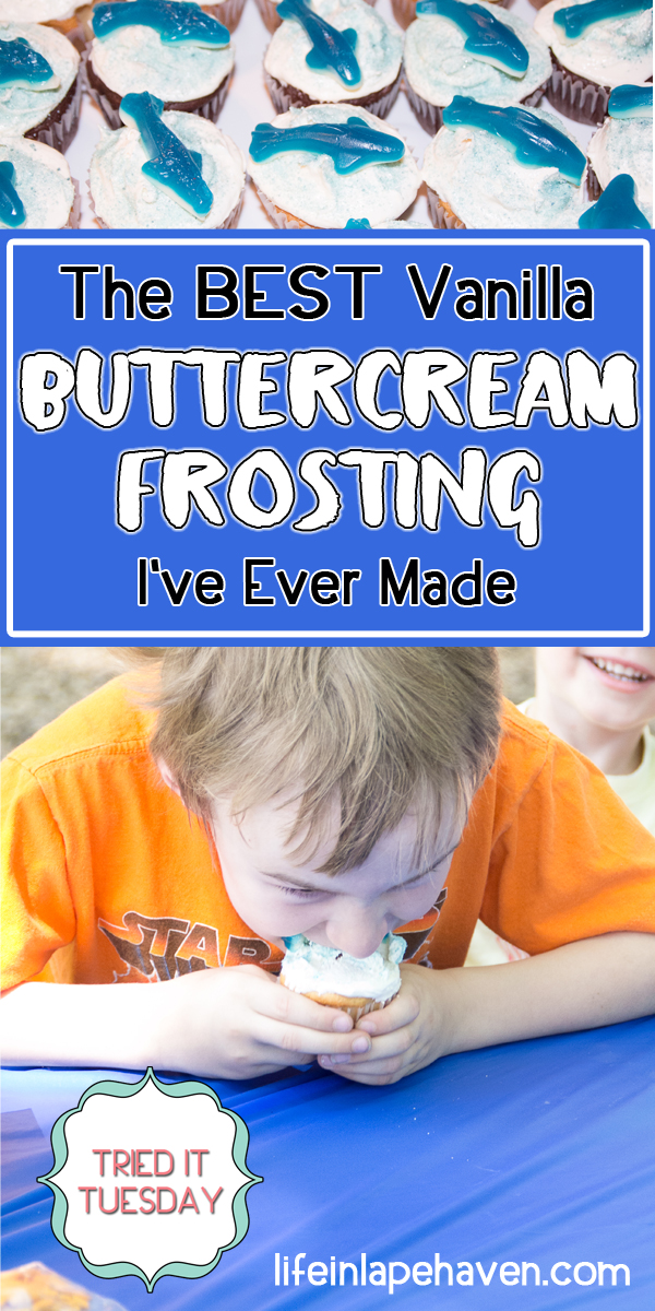 Tried It Tuesday: The Best Vanilla Buttercream Frosting I've Ever Made. Easily the most delicious buttercream icing recipe I've made. Simple, quick, tasty, and not too sweet. Perfect for cakes and cupcakes.