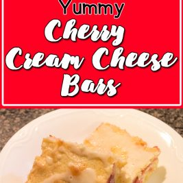 Life in Lape Haven: Tried It Tuesday: Yummy Cherry Cream Cheese Bars, These tasty little treats layer dough with a homemade cherry pie filling, cream cheese, and a sweet glaze. Great way to use fresh cherries!