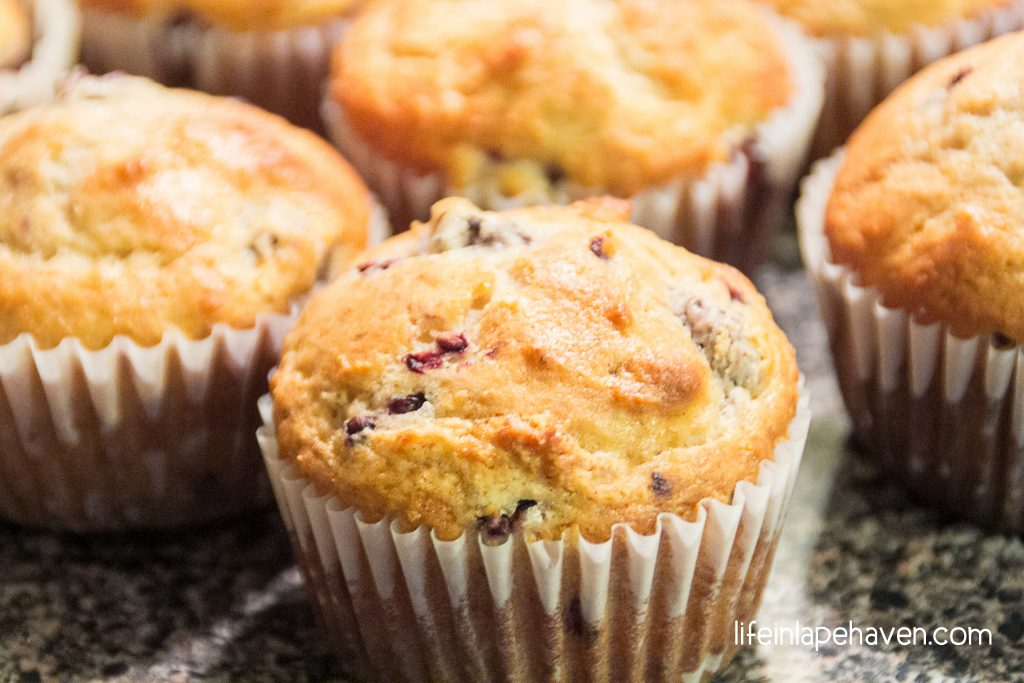 Life in Lape Haven: Tried It Tuesday: Homemade Blackberry Muffins. Delicious, quick, and easy homemade muffin recipe using fresh blackberries and a secret ingredient to give you tender, fluffy muffins.
