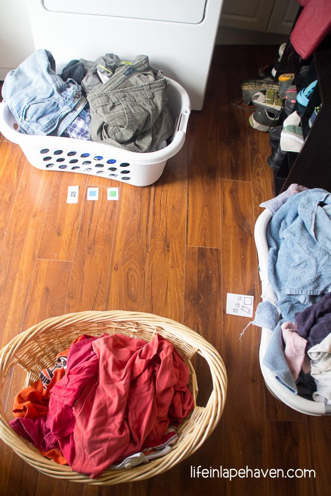 Life in Lape Haven: The Laundry Sorting Game. When my preschooler wanted to play a game, but I needed to get laundry done, I came up with a new game that helps my son learn his color, matching, and an important life skill - all in one.