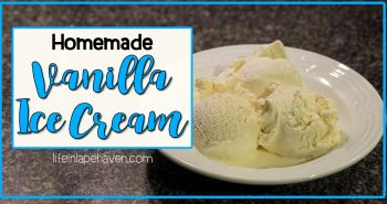 Tried It Tuesday - Homemade Vanilla Ice Cream. A delicious, traditional-style homemade vanilla ice cream recipe that's perfect for summer (or anytime of the year!) One of our family's favorites.