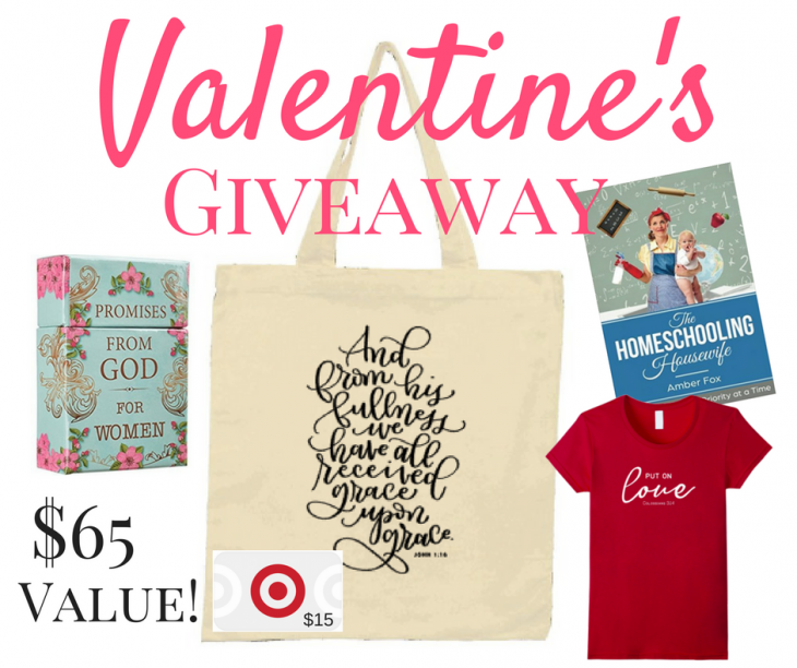 A Valentine's Giveaway - Life in Lape Haven. Enter to win a sweet prize package in this fun Valentine's Day giveaway hosted by 5 bloggers.