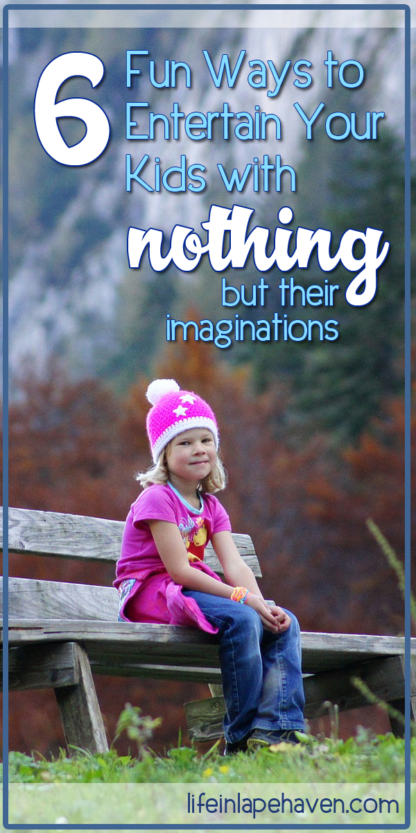 6 Fun Ways to Entertain Your Kids with Only Their Imaginations - Sometimes you need to keep your kids occupied, and these simple games & activities are perfect for engaging their creativity and getting them interacting with every one in the family.